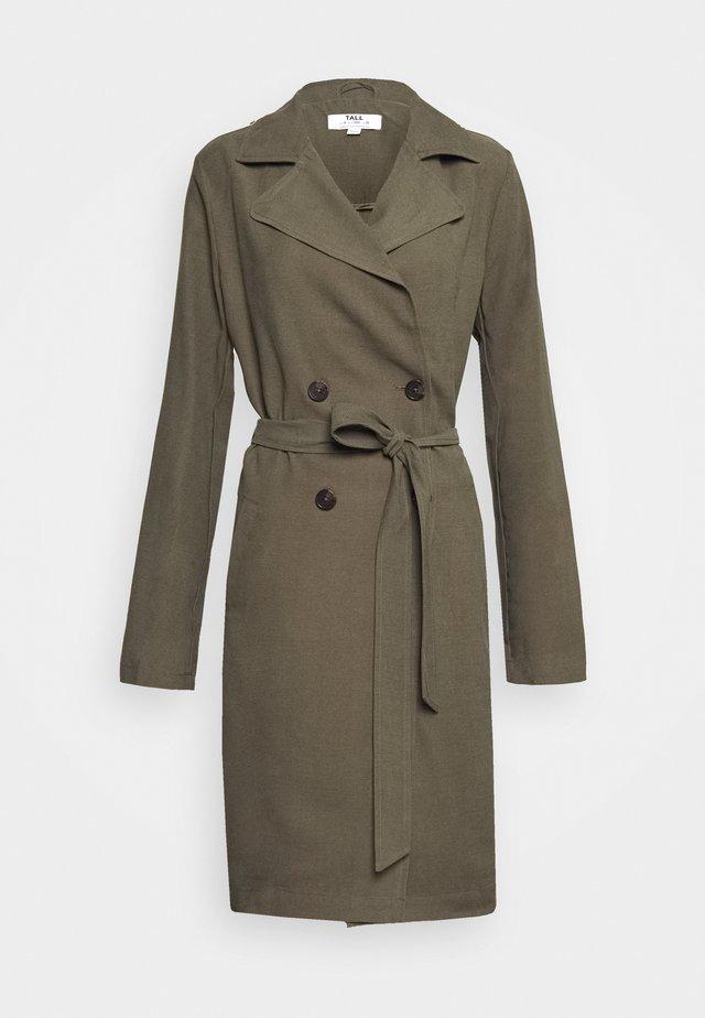 Płaszcz wełniany /Płaszcz klasyczny - khaki
