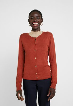 BUTTON CARDI - Kardigan - rust