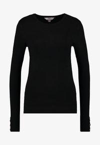 Dorothy Perkins Tall - BUTTON CUFF FINE GAUGE JUMPER - Sweter - black - 3