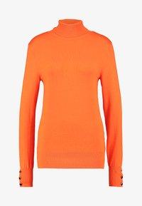 Dorothy Perkins Tall - BUTTON CUFF ROLL NECK - Stickad tröja - orange - 3