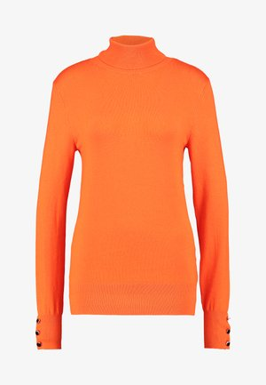BUTTON CUFF ROLL NECK - Strikpullover /Striktrøjer - orange