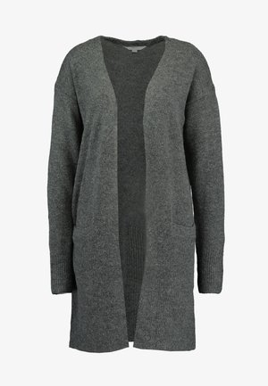 LONGLINE EDGE TO EDGE CARDI - Kardigan - charcoal