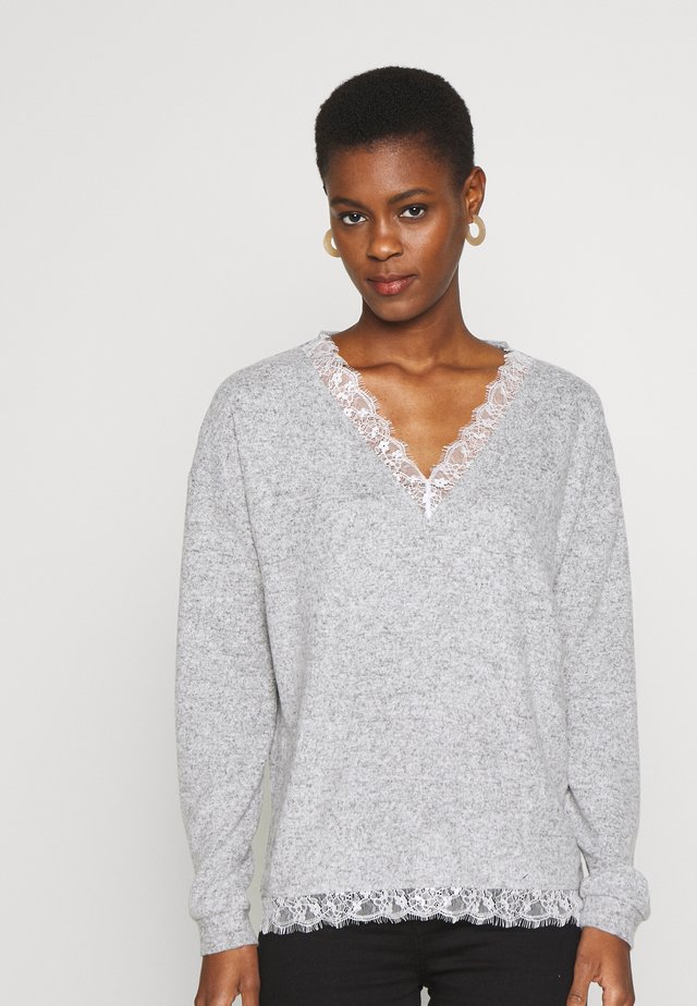 BRUSHED JUMPER - Stickad tröja - grey