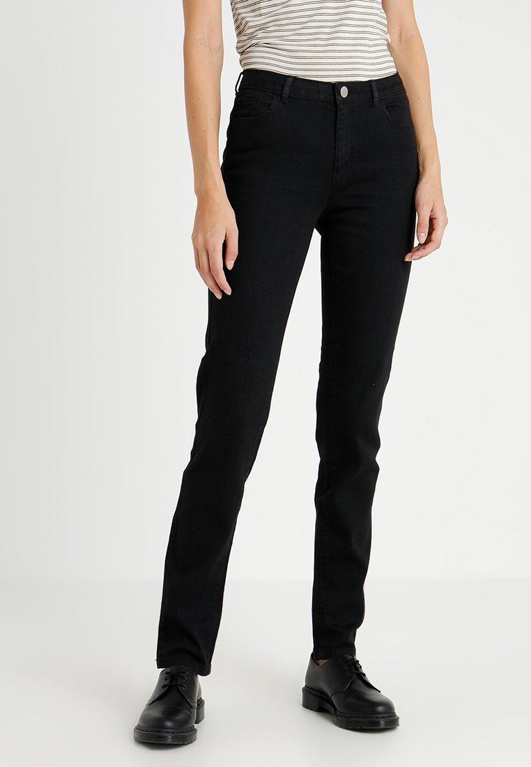 Dorothy Perkins Tall - ASHLEY STRAIGHT - Jeans Straight Leg - black
