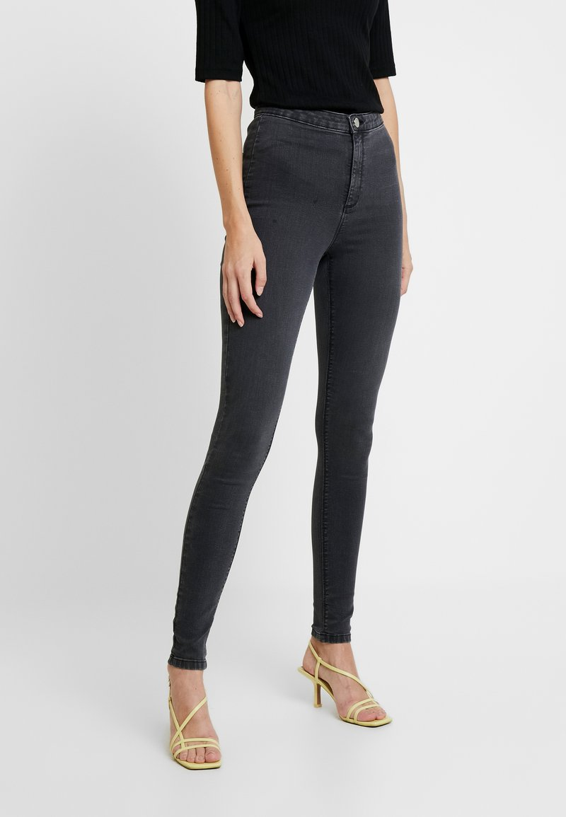 Dorothy Perkins Tall - LYLA - Jeansy Skinny Fit - charcoal