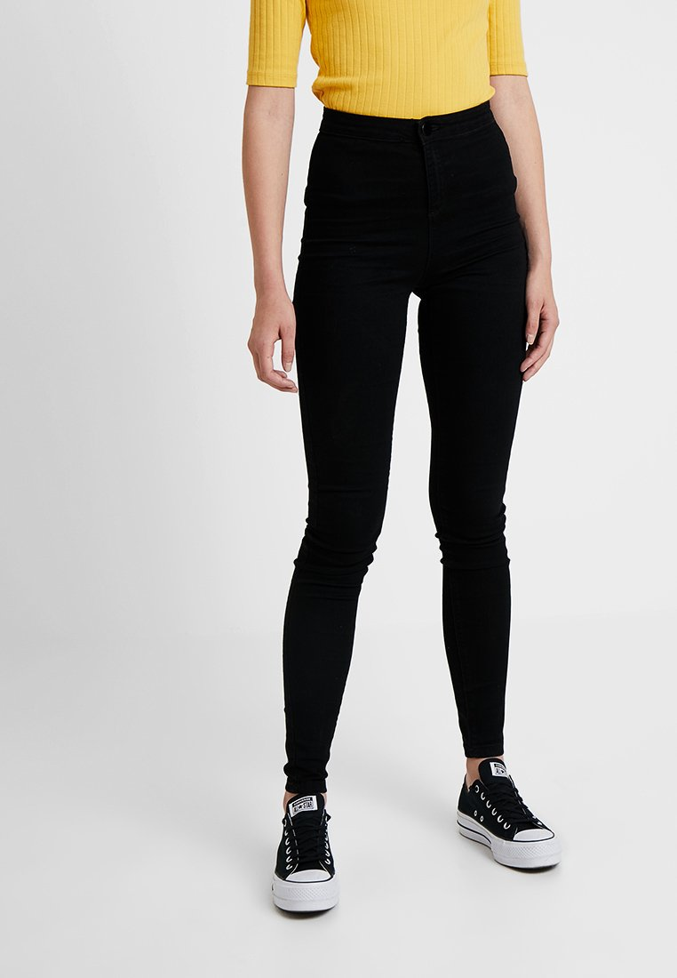 Dorothy Perkins Tall - FLY FRONT LYLA - Jeans Skinny Fit - black