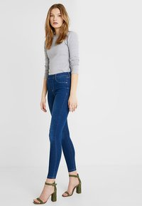 Dorothy Perkins Tall - MIDWASH EDEN - Jeansy Skinny Fit - midwash - 1