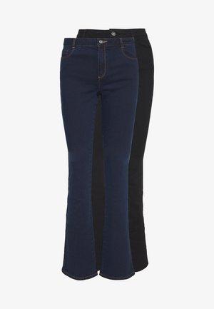 ELLIS 2 PACK  - Jeans bootcut - black & indigo