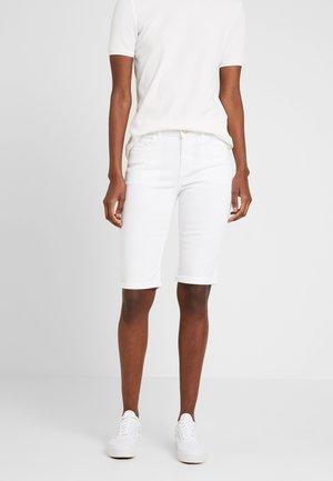KNEE - Szorty jeansowe - white