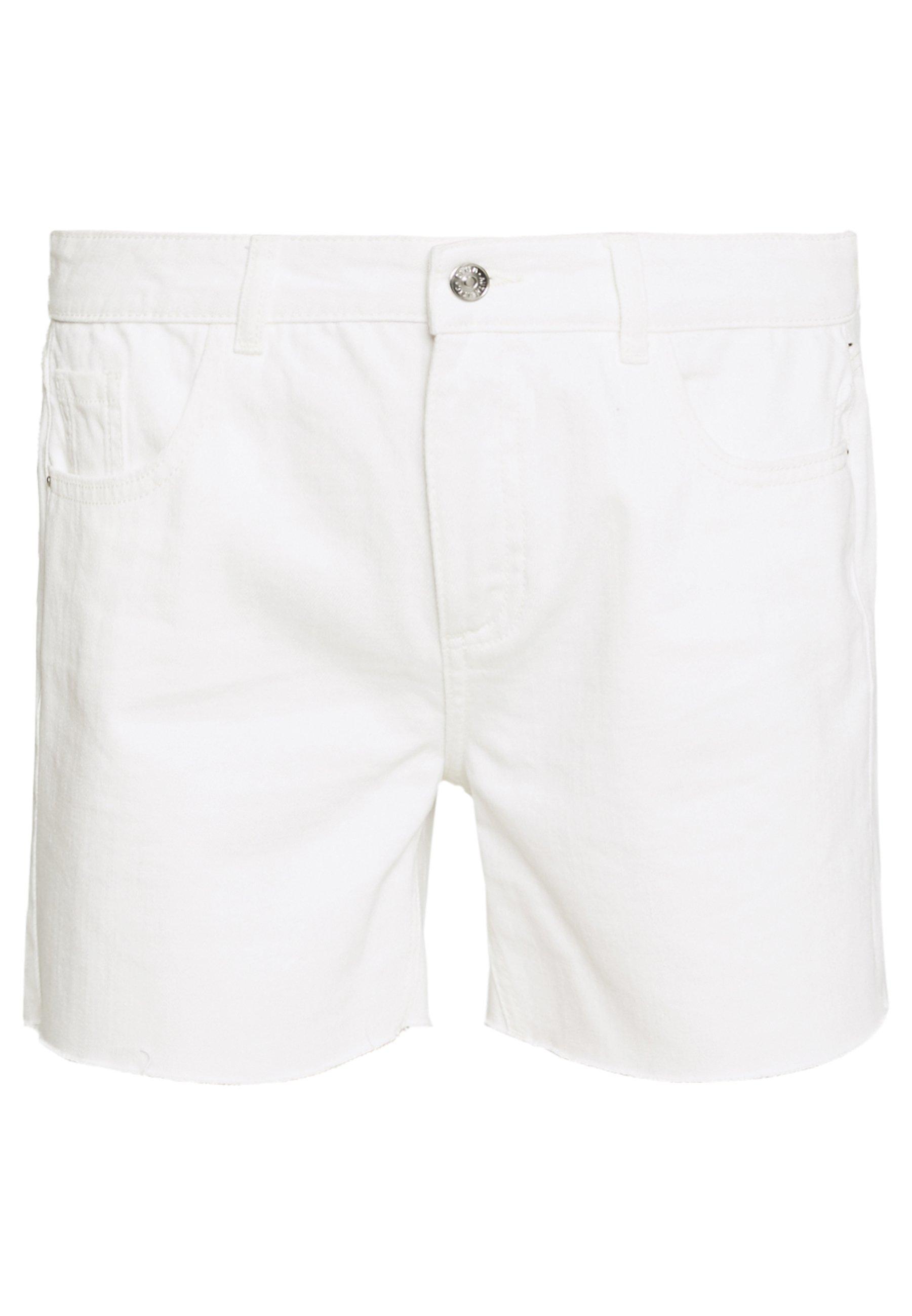 Dorothy Perkins Tall RAW SHORT - Szorty jeansowe - white