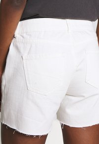 Dorothy Perkins Tall - RAW SHORT - Jeansshorts - white - 5