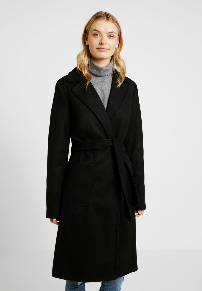 Dorothy Perkins Tall - PATCH WRAP - Mantel - black