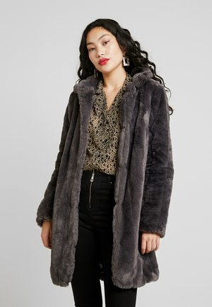 LONGLINE PELTED - Winter coat - charcoal