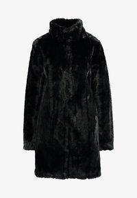 Dorothy Perkins Tall - LONGLINE PELTED - Płaszcz zimowy - black - 3