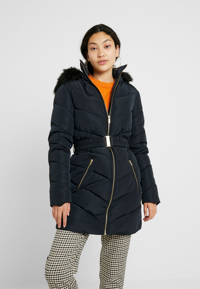 Dorothy Perkins Tall - LONG LUXE PADDED JACKET - Mantel - navy blue
