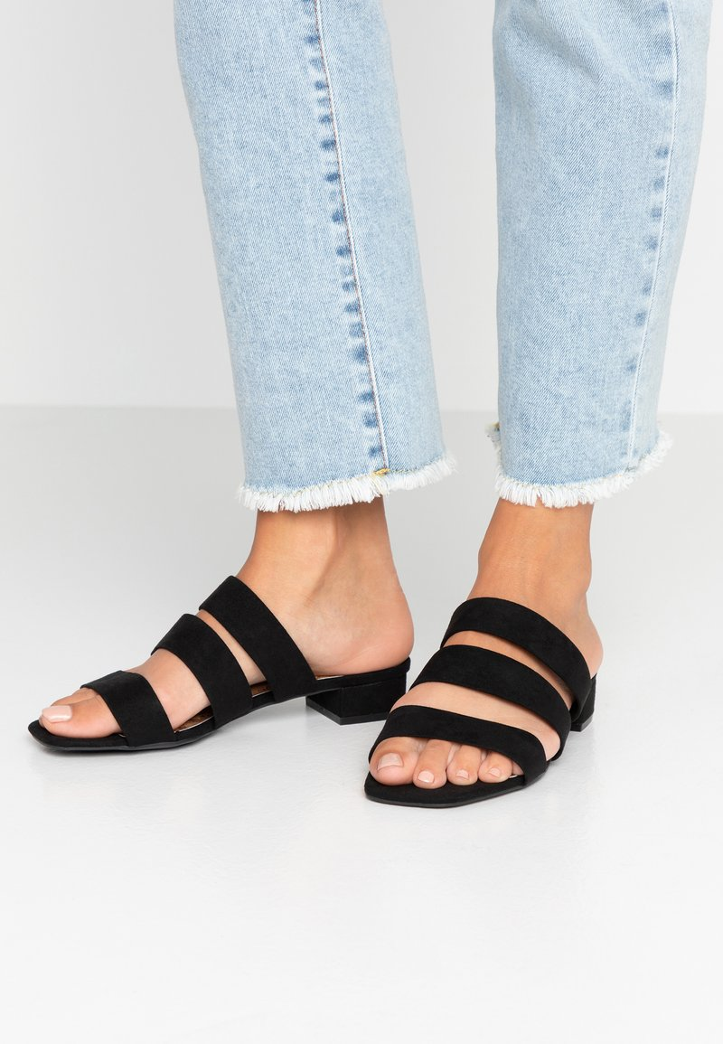 Dorothy Perkins Wide Fit - WIDE FIT STORMY - Mules - black