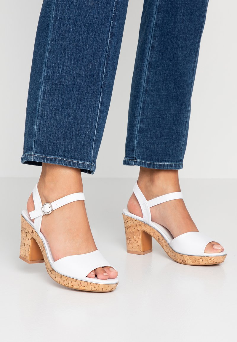 Dorothy Perkins Wide Fit - WIDE FIT RHONDA - High heeled sandals - white