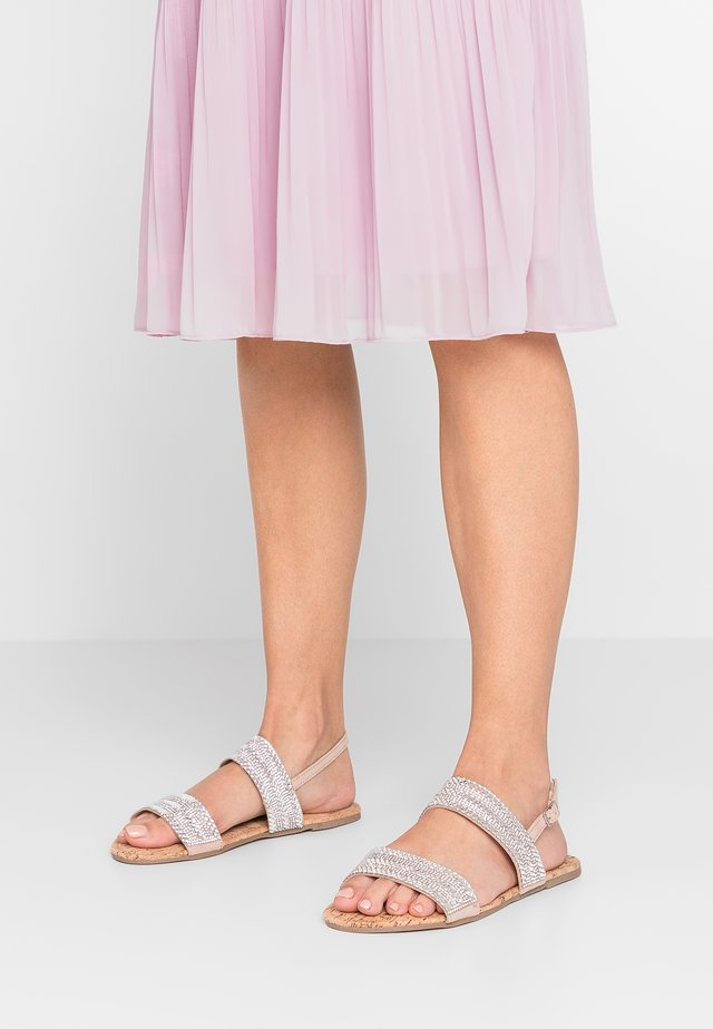 WIDE FIT FUNK - Sandals - silver