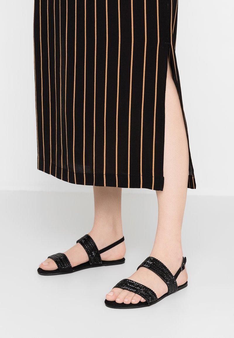 Dorothy Perkins Wide Fit - WIDE FIT FUNK - Sandals - black