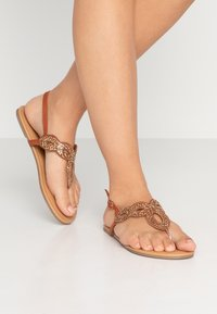 Dorothy Perkins Wide Fit - WIDE FIT FREDDY - tåsandaler - tan - 0