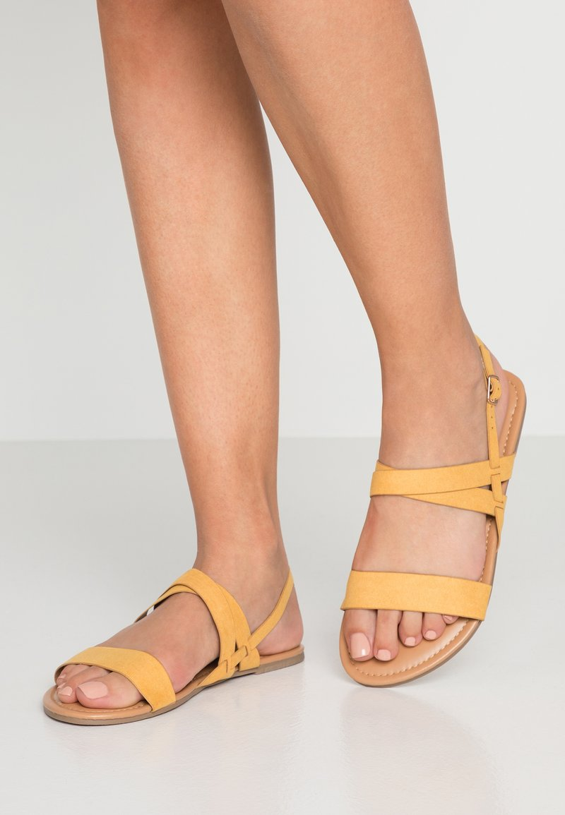 Dorothy Perkins Wide Fit - WIDE FIT FABIA - Sandalias - yellow
