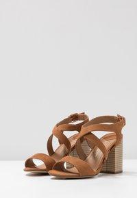 Dorothy Perkins Wide Fit - WIDE FIT SPYE CROSS OVER BLOCK  - High heeled sandals - tan - 4