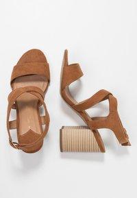 Dorothy Perkins Wide Fit - WIDE FIT SPYE CROSS OVER BLOCK  - High heeled sandals - tan - 3