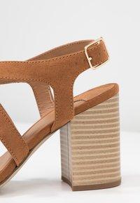 Dorothy Perkins Wide Fit - WIDE FIT SPYE CROSS OVER BLOCK  - High heeled sandals - tan - 2