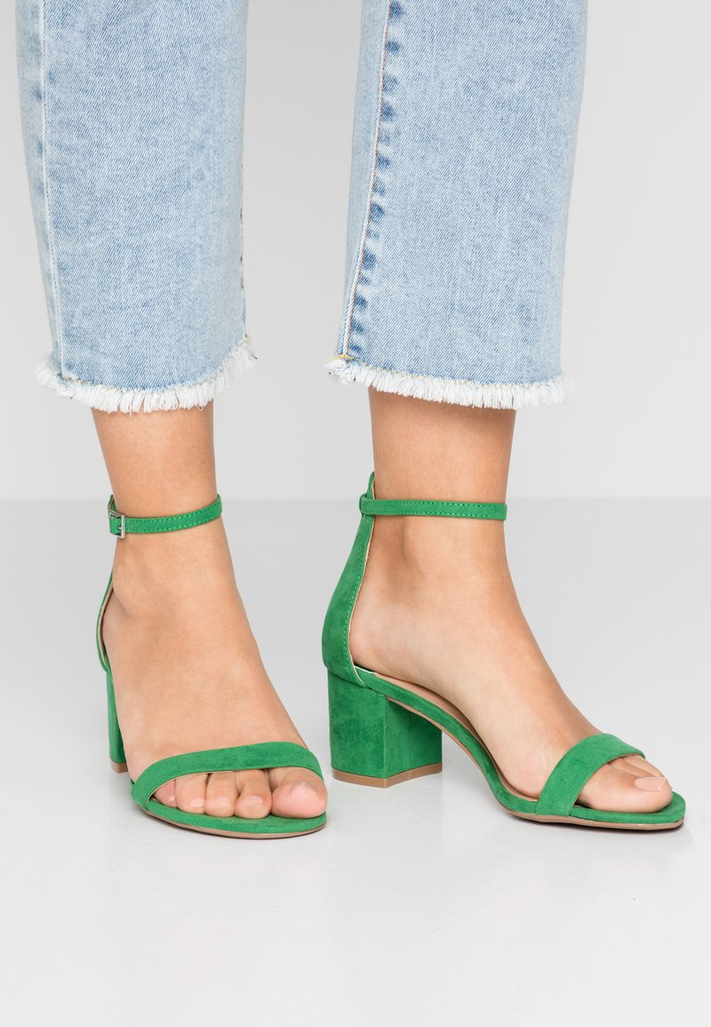 Dorothy Perkins Wide Fit - WIDE FIT SINNER TWO PART - Sandales - green
