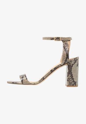 WIDE FIT SHIMMER BLOCK - High heeled sandals - beige