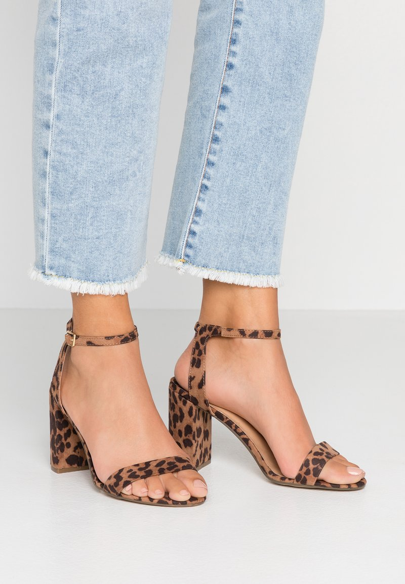 Dorothy Perkins Wide Fit - WIDE FIT SHIMMER BLOCK - High heeled sandals - multicolor
