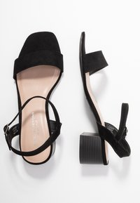 Dorothy Perkins - WIDE FIT BRIGHT SQUARE TOE BLOCK HEEL - Sandály - black - 3