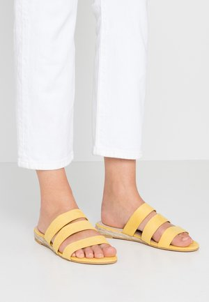 WIDE FIT FOREVER  - Mules - yellow