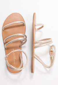 Dorothy Perkins Wide Fit - WIDE FIT TUBULAR  - Sandály - gold metallic - 3