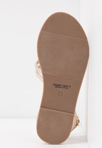 Dorothy Perkins Wide Fit - WIDE FIT TUBULAR  - Sandály - gold metallic - 6