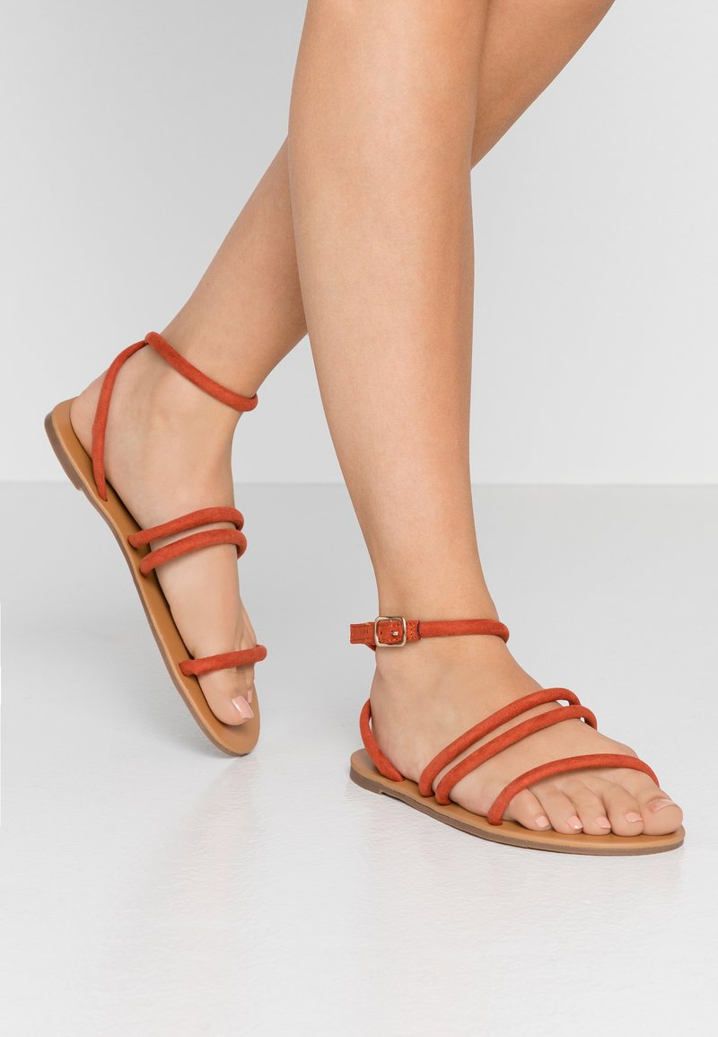 Dorothy Perkins Wide Fit - WIDE FIT TUBULAR  - Sandals - rust