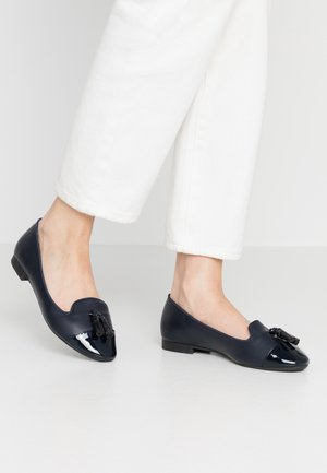 WIDE FIT PALMA TOE CAP - Mocassins - navy