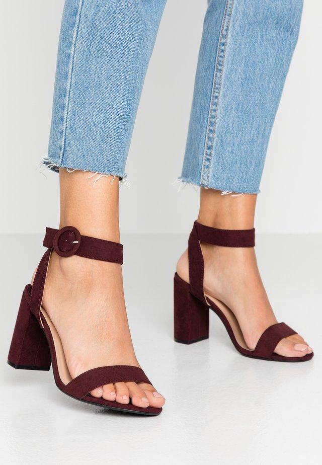 WIDE FIT BIKINI BLOCK - High heeled sandals - burgundy