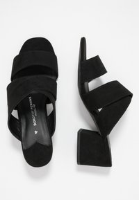 Dorothy Perkins Wide Fit - WIDE FIT BART MULE CROSS OVER - Sandalias - black - 3