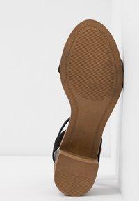 Dorothy Perkins Wide Fit - WIDE FIT COMFORT FOOTBED STACK HEEL - Sandaler - black - 6