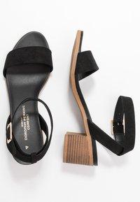 Dorothy Perkins Wide Fit - WIDE FIT COMFORT FOOTBED STACK HEEL - Sandaler - black - 3