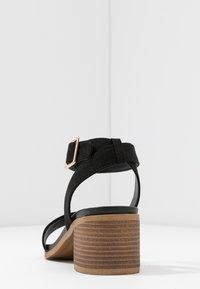 Dorothy Perkins Wide Fit - WIDE FIT COMFORT FOOTBED STACK HEEL - Sandaler - black - 5