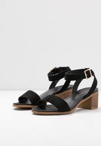 Dorothy Perkins Wide Fit - WIDE FIT COMFORT FOOTBED STACK HEEL - Sandaler - black - 4