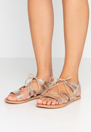 WIDE FIT JOY LACE UP GHILLIE  - Riemensandalette - gold