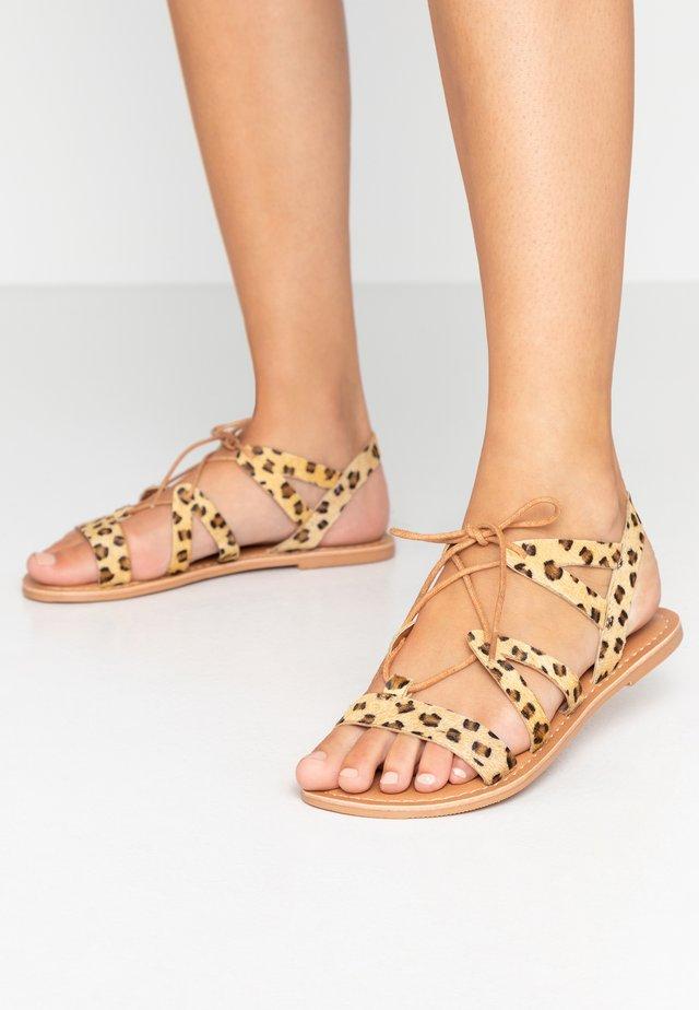WIDE FIT JOY LACE UP GHILLIE  - Sandals - brown