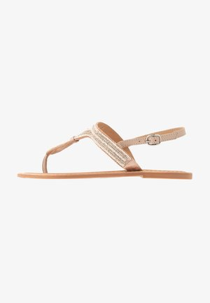 WIDE FIT JUNIPER - T-bar sandals - nude