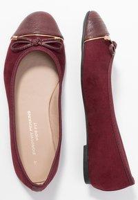 Dorothy Perkins Wide Fit - WIDE FIT PISA TOE CAP - Ballerina's - burgundy - 3