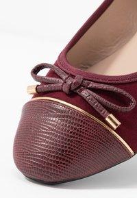 Dorothy Perkins Wide Fit - WIDE FIT PISA TOE CAP - Ballerina's - burgundy - 2