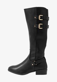 Dorothy Perkins Wide Fit - WIDE FIT KIKI BUCKLE RIDER BOOT - Boots - black - 1