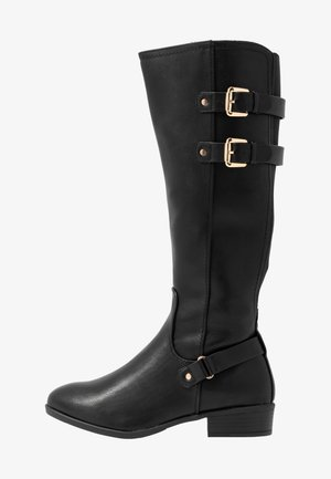 WIDE FIT KIKI BUCKLE RIDER BOOT - Boots - black